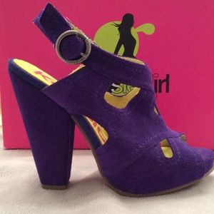 Kensie Girl Shoes - Kenzie Girl,  Blue Suede Heel Super HOT!
