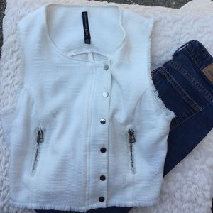W118 by Walter Baker Jackets & Blazers - Winter white vest.