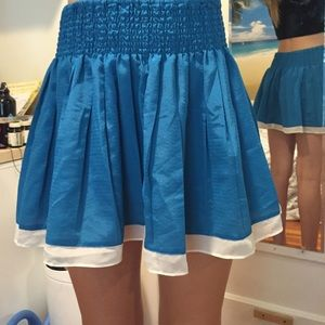 Blue Skirt with White Trim