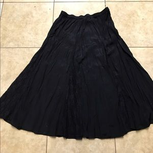 Black skirt with lace never worn washed once