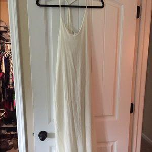 White linen maxi dress
