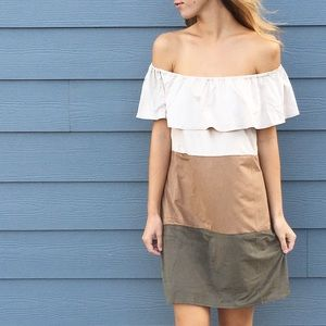 Dresses & Skirts - | new | suede color block dress