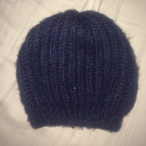 Accessories - Navy Blue Knitted Beanie