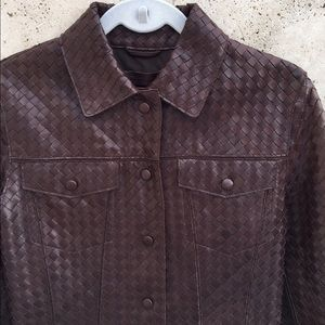 Bottega Veneta Jackets & Blazers - Iconic Bottega Veneta Woven Leather Jacket