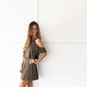 | new | olive suede dress