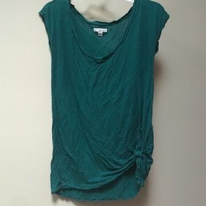 American eagle tee with tie up bottom