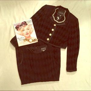 Versus By Versace Jackets & Blazers - Versace Versus black checkered dress suit set S