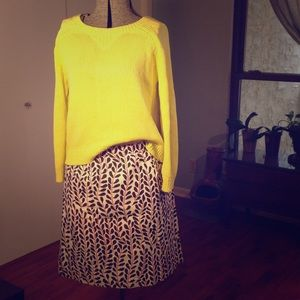 J.Crew cotton print skirt