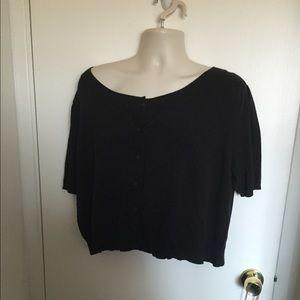 Torrid size 3 black cropped cardigan