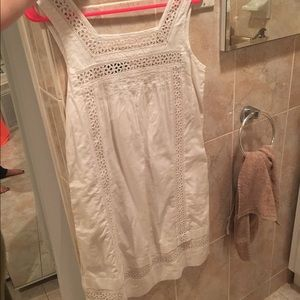 Vintage white linen crochet Gap summer dress size2