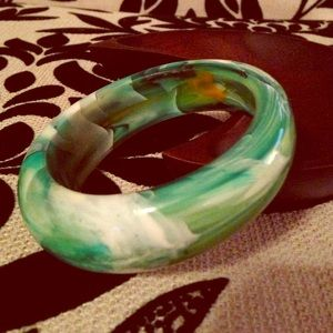 Jewelry - ⚡️CLOSET CLOSING⚡️Green Marble Bangle NEW
