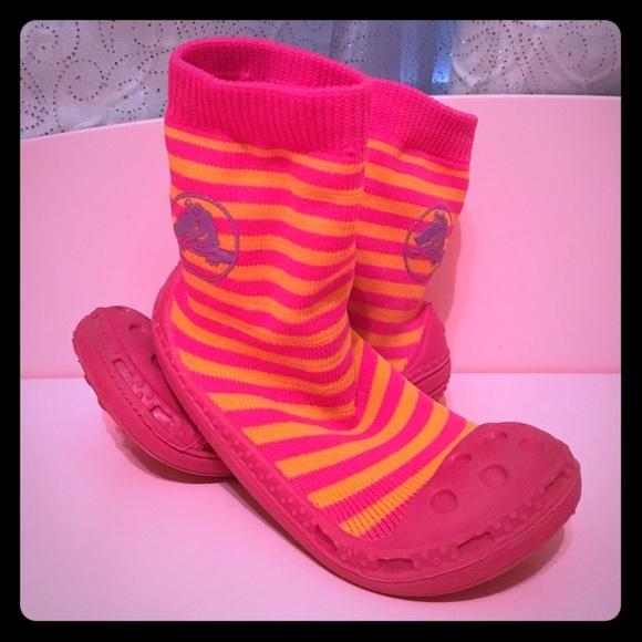 a8ce86ff2 CROCS Other - Crocs Kids Gripper Bottom Sock Shoes