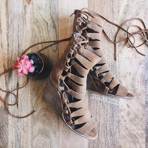 Jeffrey Campbell Shoes - Jeffery Campbell lace up wedge sandals