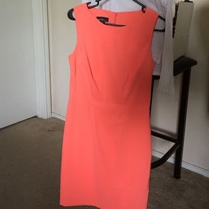 Sleeveless coral dress