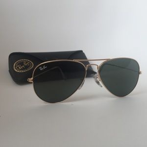 Ray-Ban Accessories - Authentic RayBan Aviators. Classic gold frame