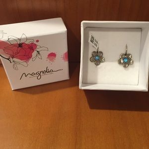 Magnolia Other - Sterling Silver flower earrings
