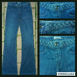 Anlo Denim - Anlo Braided Waistband Flare Jeans