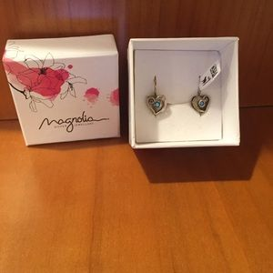 Magnolia Other - Sterling Silver Heart Earrings
