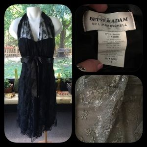 Betsy & Adam Dresses & Skirts - Betsy & Adam Black Lace Dress