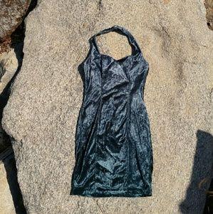 Vintage velvet halter dress