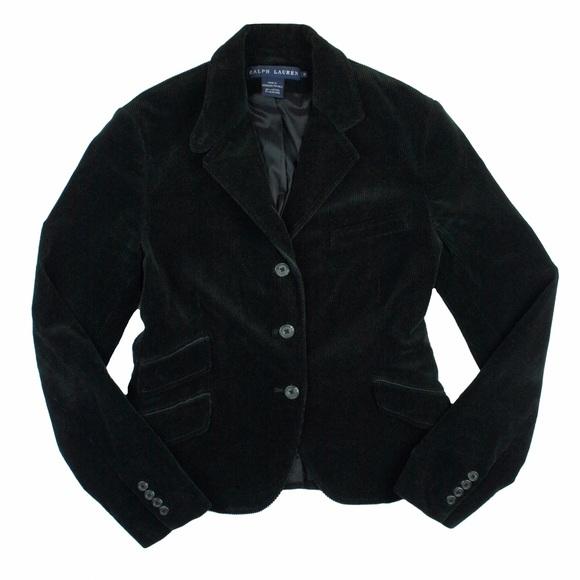 Ralph lauren black hacking jacket