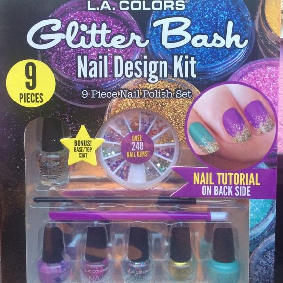 L.A COLORS Makeup | La Colors Glitter Bash Nail Design Kit | Poshmark