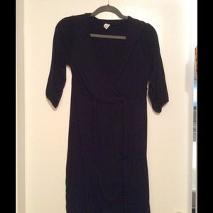 Faux wrap dress, v-neck, rayon/spandex