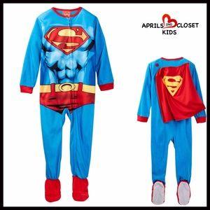 Komar Kids Other - ❗️1-HOUR SALE❗️SUPERMAN COSTUME PAJAMA SLEEPER