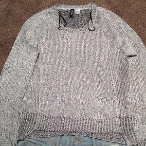 NWOT silver metallic knit sweater from H&M Sz XS