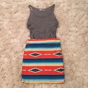 Bodycon Tribal Print Skirt