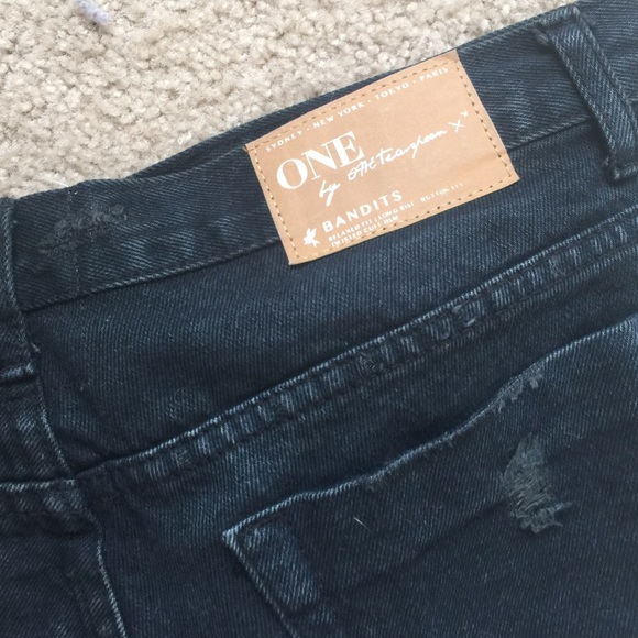 One Teaspoon Shorts - One Teaspoon Bandits in black SZ 27