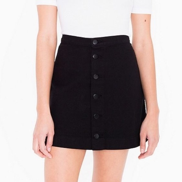 55% off American Apparel Dresses & Skirts - AA Denim Button Front ...