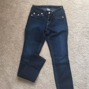 True Religion dark legging fit jeans in SZ 26