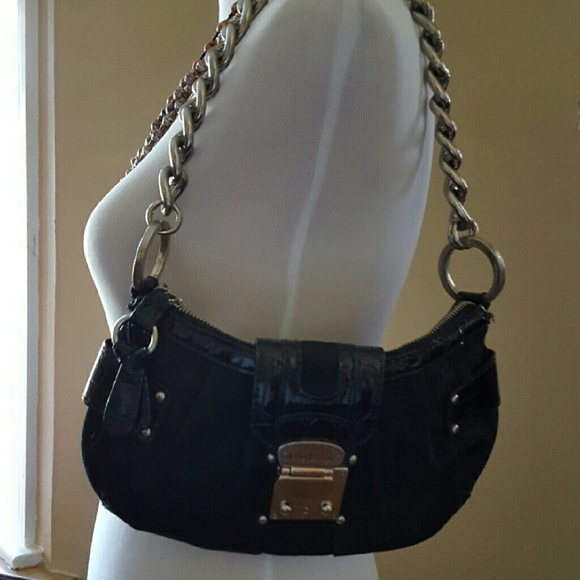 GUESS Bags | Patent Leather Metal Chain Shoulder