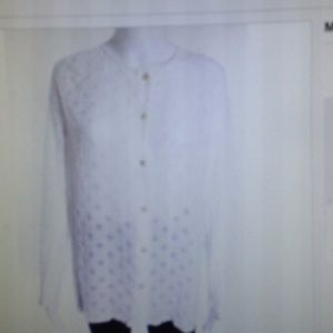 Massimo Alba Tops - Massimo Alba velvet texture polka dot button top