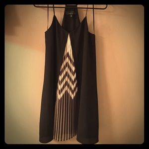 Lulu's black and chevron spaghetti strap dress