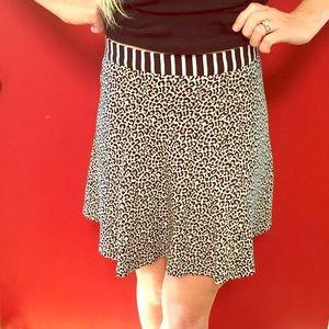 Wren Dresses & Skirts - Leopard high waisted skater skirt
