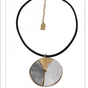 Three tone medallion necklace