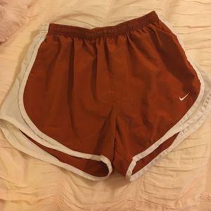 Nike fitdry shorts in burnt orange