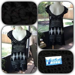 Soaked Dresses & Skirts - Sexy Black Crocheted Dress