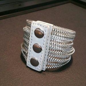 Jewelry - Leather Zipper Bracelet