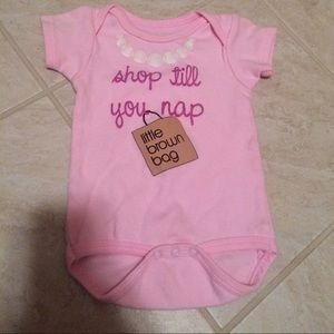 Sara Kety Other - Shop till you nap 6-12 month onesie