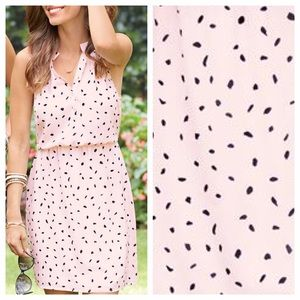 Blush Pink + Black Dot Dress