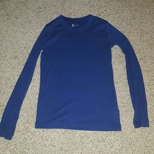 Super Soft Blue Long Sleeve Tee