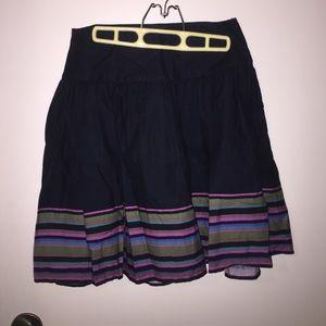 Gap a line flare skirt