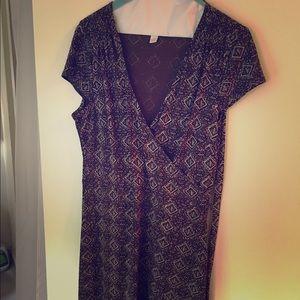 Anne Taylor v-neck dress with sash