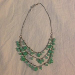 Teal Beads Statement Necklace