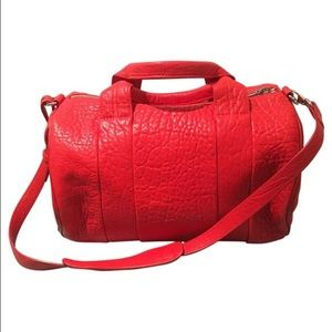 NEW Alexander Wang Rocco Red Satchel