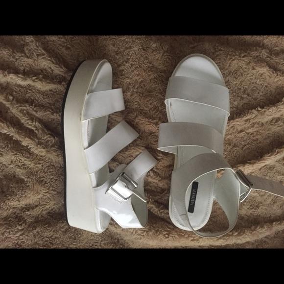White Platform Sandals | Poshmark