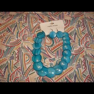  Sophia&Kate turquoise necklace & earrings set.